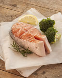 Salmon raw. salmon red fish steak Royalty Free Stock Photography