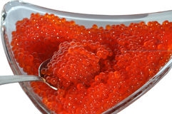 Salmon red caviar Royalty Free Stock Photography