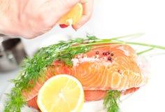 Salmon red fish Royalty Free Stock Image