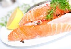 Salmon red fish Stock Photos