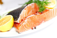 Salmon red fish Royalty Free Stock Images