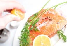 Salmon red fish Stock Image