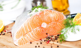 Salmon red fish Royalty Free Stock Photo