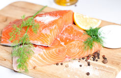 Salmon red fish Stock Photo