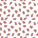 Salmon red fish fillet vector seamless pattern or texture. Salmon red fish fillet vector concept colorful seamless pattern or texture Stock Photos