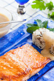 Salmon and rice Stock Image