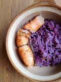 Salmon with  rice Stock Photography