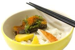 Salmon rice royalty free stock image