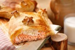 Salmon and rice pie Royalty Free Stock Photo