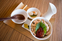 Salmon rice set Stock Photography