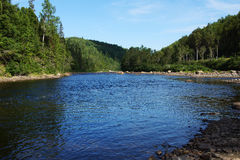 Salmon river. Beautiful salmon river in Quebec, Canada Stock Photo