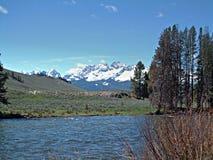 Salmon River cerca de Stanley, Idaho 3 Fotos de archivo libres de regalías