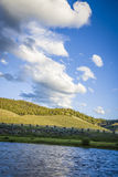Salmon River and hills in Idaho Royalty Free Stock Photos