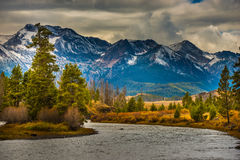Salmon River Lower Stanley Idaho Lizenzfreie Stockfotos