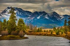 Salmon River Lower Stanley Idaho. Sawtooth Range Royalty Free Stock Photos