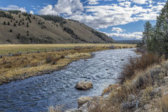 Salmon River on sunny day. Stock Images