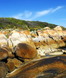 Salmon Rocks, Cape Conran, Australia Royalty Free Stock Photos