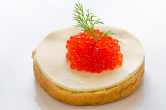 Salmon roe canape Royalty Free Stock Photos