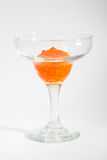 Salmon roe in goblet Stock Photo