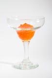 Salmon roe in goblet Stock Photo