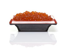 Salmon roe isolated Royalty Free Stock Images