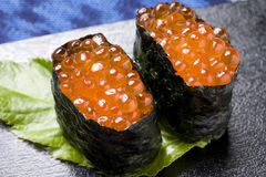 Salmon roe roll Royalty Free Stock Image