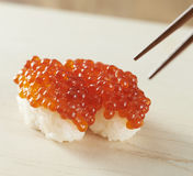 Salmon roe Sushi Royalty Free Stock Photography
