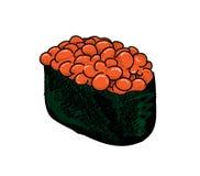 Salmon Roe Sushi Stock Image