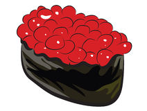 Salmon Roe Sushi Stock Photo