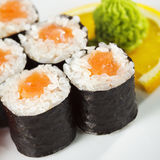 Salmon Roll Stock Photography