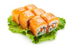 Salmon Roll Royalty Free Stock Images