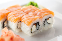 Salmon Roll Stock Photos