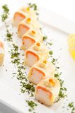 Salmon Roll Stockfoto