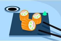 Salmon Roll Images libres de droits