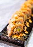 Salmon Roll Sushi. Japanese Food style stock photo