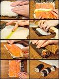 Salmon rolling Stock Image