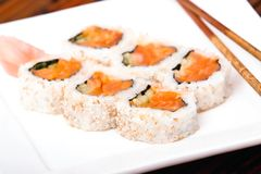 Salmon rolls Royalty Free Stock Image