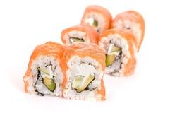Salmon rolls Stock Image