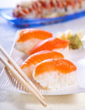 Salmon rolls Stock Photography