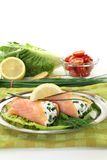 Salmon rolls Royalty Free Stock Photography