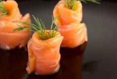 Salmon rolls Royalty Free Stock Photos