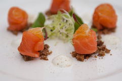 Salmon rolls Stock Photo