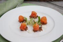 Salmon rolls Stock Images