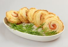 Salmon roulade Royalty Free Stock Images