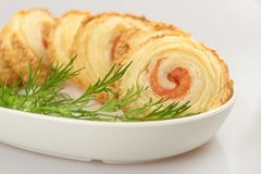 Salmon roulade Stock Photography