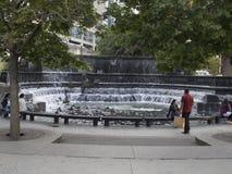 Salmon run fountain, Toronto, Canada Stock Photography