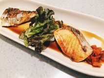Salmon and Saba shoyu maki Royalty Free Stock Photography