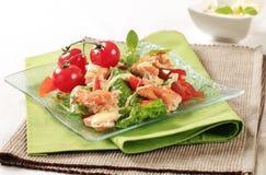Salmon salad Stock Photos