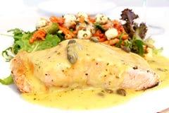 Salmon and Salad stock photos