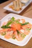 Salmon salad Stock Image